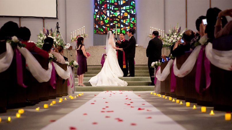The number of traditional church weddings has dropped dramatically in the past decade. Photo courtesy of Pixabay/Creative Commons