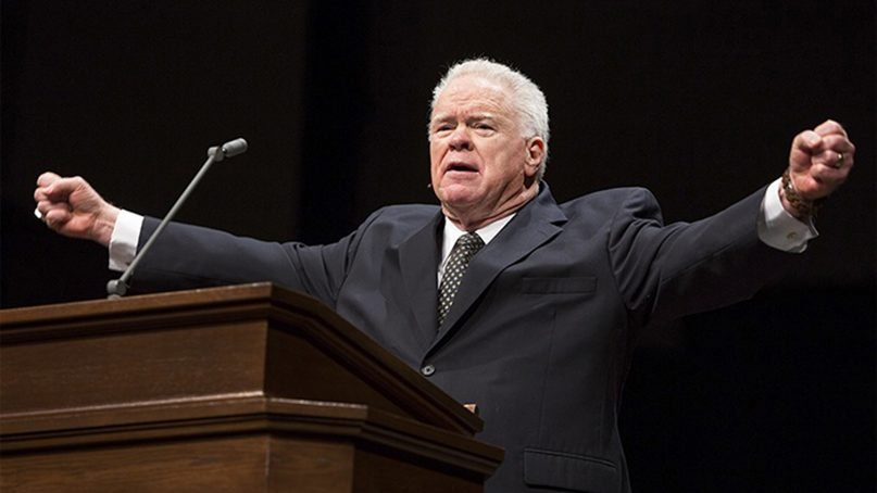 In this file photo, Paige Patterson preaches at the Southwestern Baptist Theological Seminary campus in Fort Worth, Texas. Photo courtesy of SWBTS