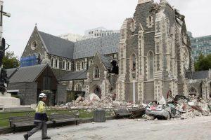 Church damaged after earthquake