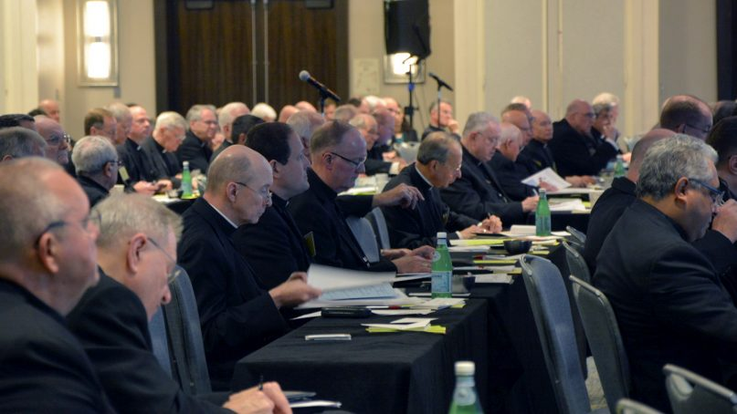 Bishops attend the U.S. Conference of Catholic Bishops Spring Assembly in Fort Lauderdale, Fla., on June 13, 2018. RNS photo by Jack Jenkins