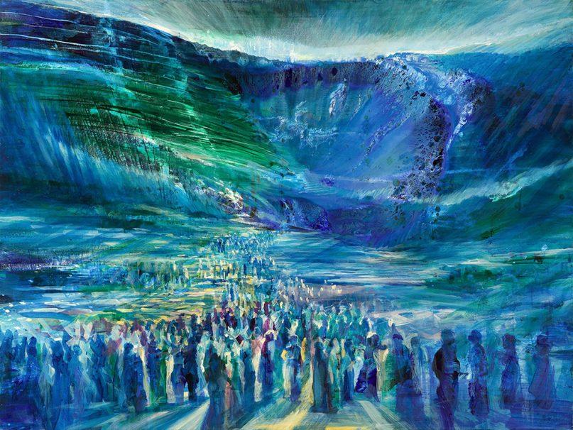 """Crossing the Red Sea."" Image courtesy of Yoram Raanan"