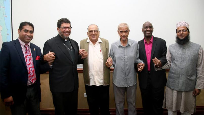Religious leaders called on the Trinidad and Tobago government to uphold traditional marriage and oppose LGBT rights during a news conference on June 12, 2018. Photo via Twitter