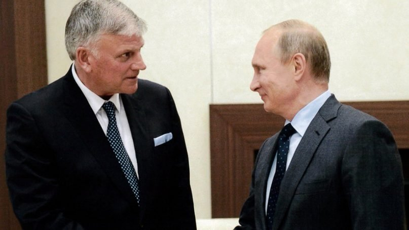 Franklin Graham tweets a photo of meeting with Russian President Vladimir Putin in April 2017.