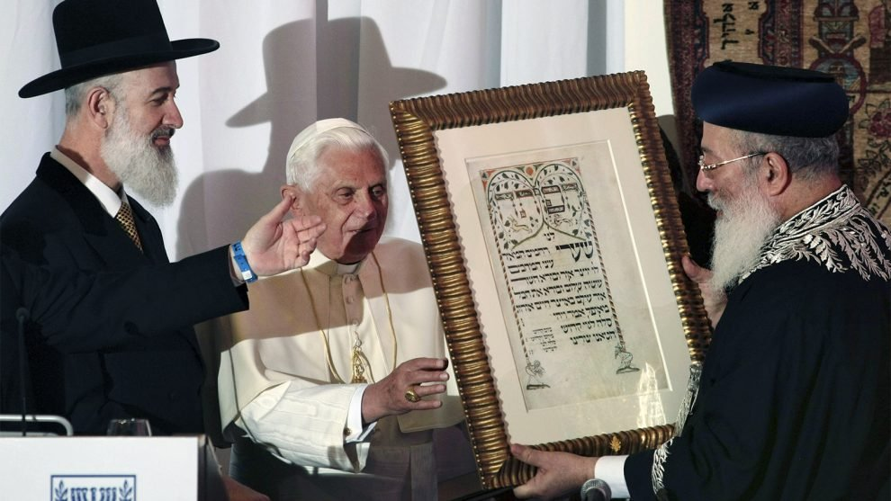 15c14fdef290b Retired Pope Benedict accused of anti-Semitism after article on Christians  and Jews