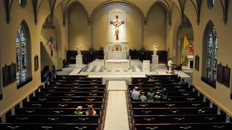 A small number of people at Saint Mary's Catholic Church in Alexandria, VA, in Sept. 2010. Photo by Philip Hauck/Creative Commons