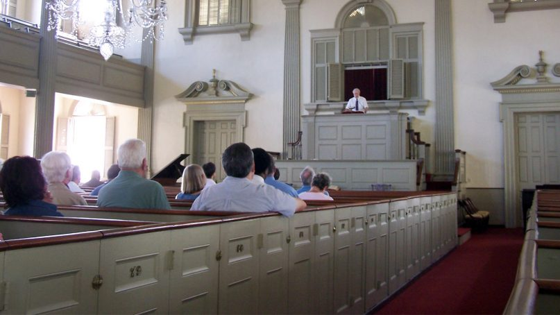An older congregation in Providence, Rhode Island. Photo by J. Stephen Conn/Creative Commons