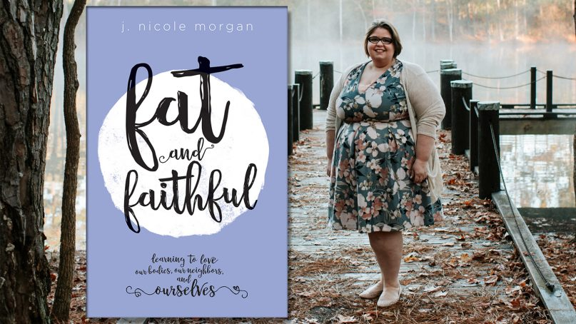 """Author J. Nicole Morgan and her new book, """"Fat and Faithful."""" Photo by Faryl Ann Photography"""