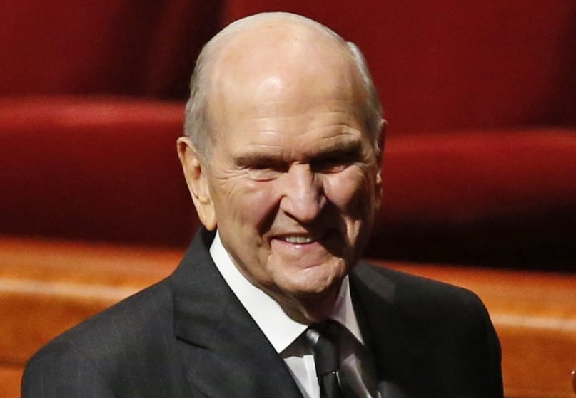 President Russell M. Nelson leaves the morning session of a twice-annual conference of The Church of Jesus Christ of Latter-day Saints on Oct. 6, 2018, in Salt Lake City. (AP Photo/Rick Bowmer)
