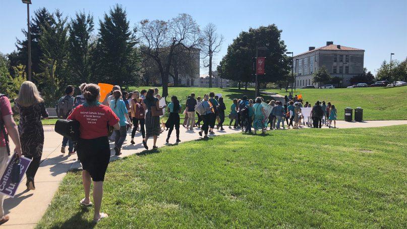Protesters demand resignation of Catholic University