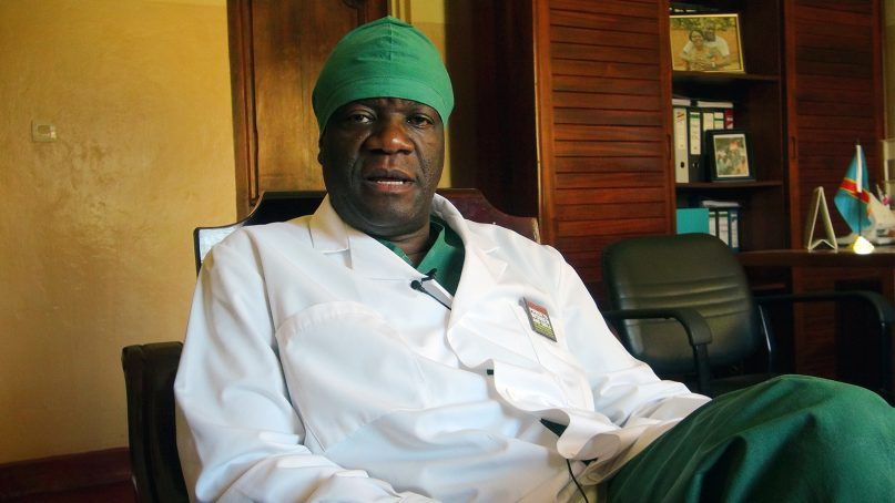 Congolese gynecologist and Nobel Peace Prize winner Dr. Denis Mukwege, in his office at Panzi Hospital on Feb. 6, 2013, in eastern Congo. Photo by PINAULT/VOA/Creative Commons