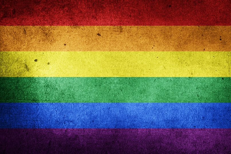 An LGBTQ pride flag.  Image courtesy of Creative Commons