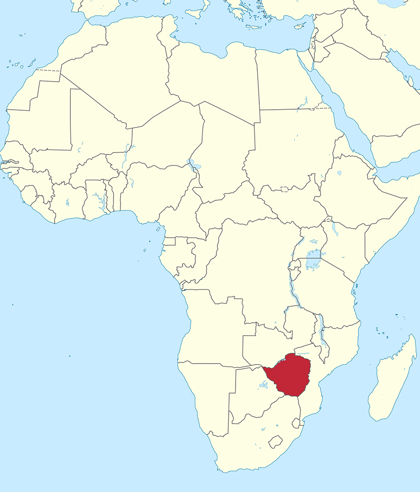 Map Of South Africa And Zimbabwe.Web Zimbabwe Red Located In Southern Africa Map Courtesy Of