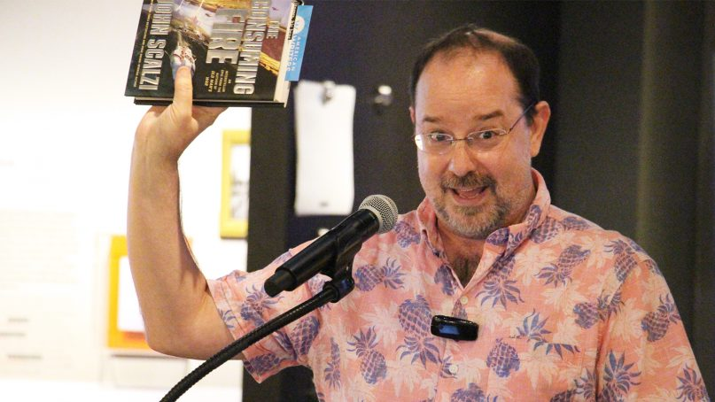 Science-fiction author John Scalzi speaks about his new book,