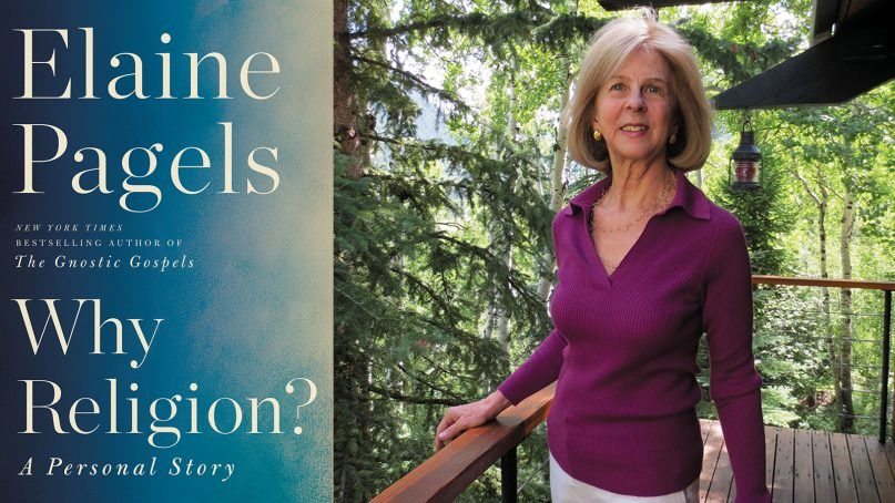 """""""Why Religion? A Personal Story"""" and author Elaine Pagels. Images courtesy of Ecco/HarperCollins"""