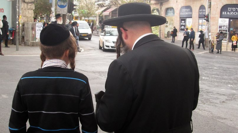 Many of the Israelis affected by a recent measles outbreak have been ultra-Orthodox Jews. Although Israel has an overall vaccination rate exceeding 95 percent, in isolated communities within ultra-Orthodox society only half the children are vaccinated. RNS photo by Michele Chabin