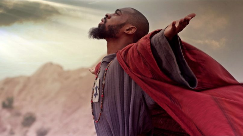 """Mali Music as Jesus in a scene from the new film """"Revival!"""" Photo courtesy of TriCoast Worldwide"""