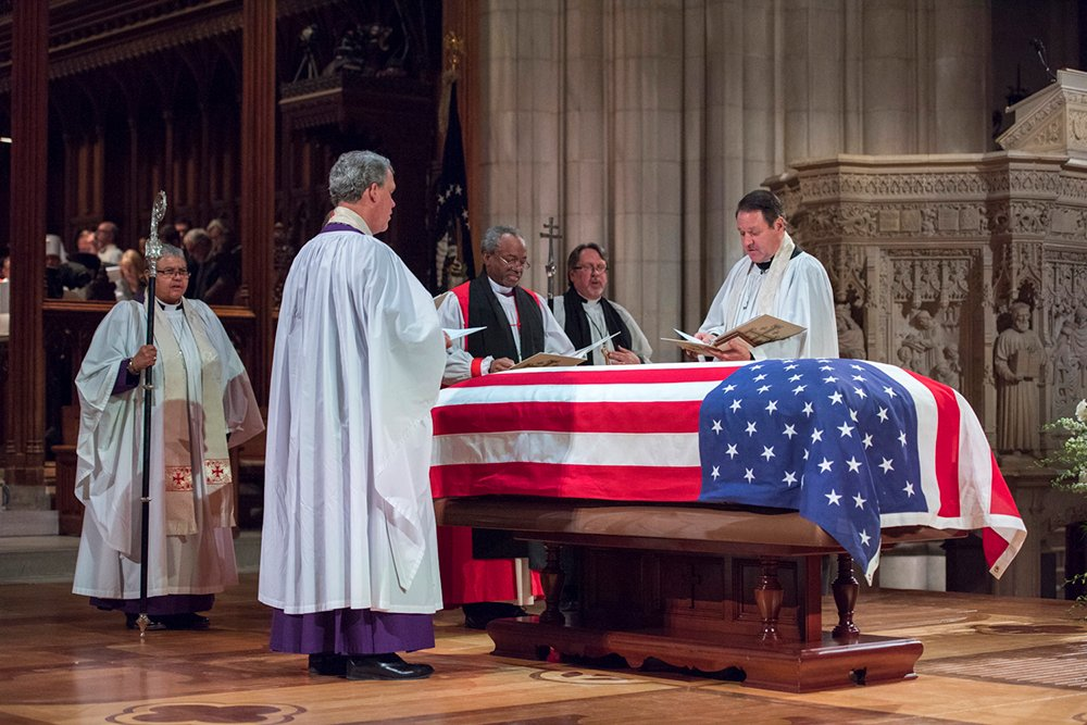 George H W  Bush's 'quiet faith' remembered at cathedral funeral