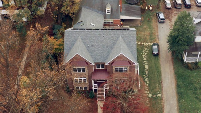An aerial view of the Chabad of Towson and Goucher in Towson, Md. Screenshot