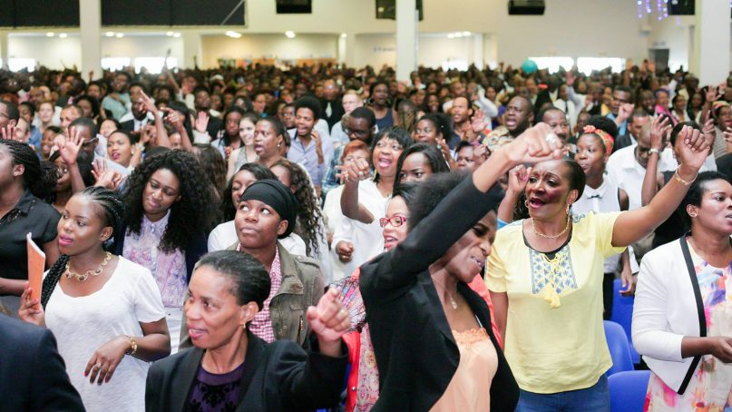 Evangelicals worship at Charisma Christian Church in the northern suburbs of Paris. Photo by Bonnie Deuschle