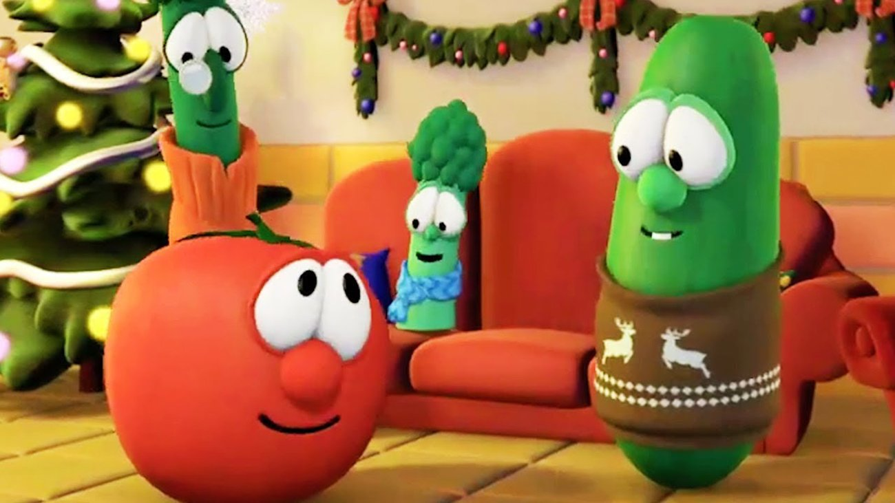 VeggieTales characters in a Christmas episode. Image courtesy of VeggieTales
