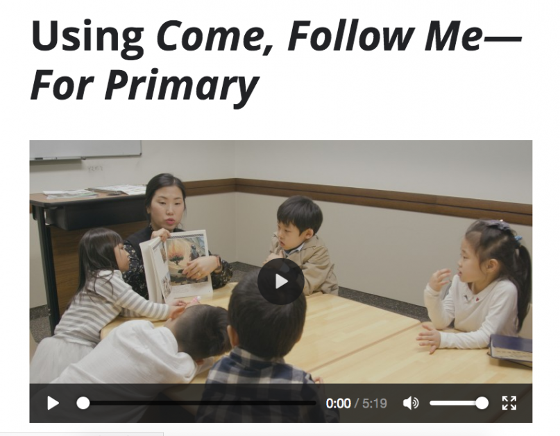 Lds Primary Lesson Schedule 2020 The New Mormon Primary manuals were not designed with real
