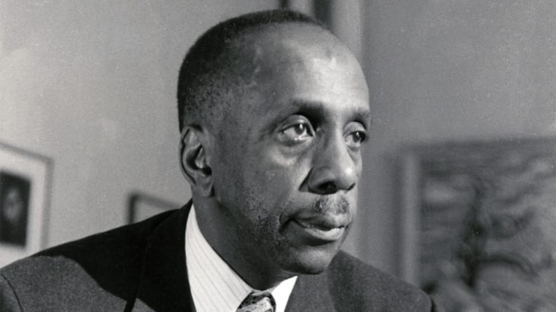 Howard Thurman preached and taught nonviolence after meeting Mahatma Gandhi in India. Photo courtesy of Emory University
