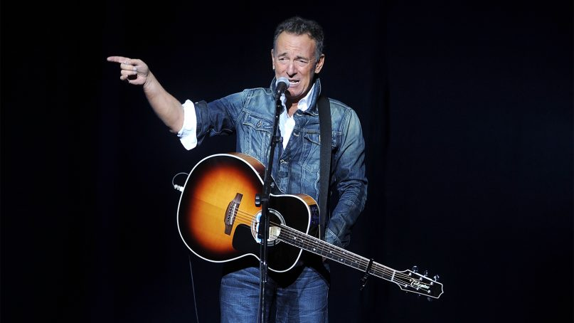Bruce Springsteen performs at the 12th annual Stand Up For Heroes benefit concert at the Hulu Theater at Madison Square Garden on Nov. 5, 2018, in New York. (Photo by Brad Barket/Invision/AP)