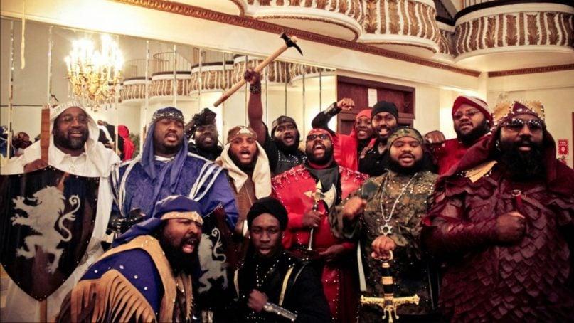 Members of the Israelite School of Universal Practical Knowledge, a group of Black Hebrew Israelites, in Harlem in 2012. Photo courtesy of Creative Commons