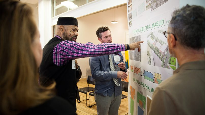 People participate in a review of plans for the Infill Philadelphia Sacred Places/Civic Spaces competition at the Philadelphia Center for Architecture in October 2018. Photo courtesy of Chris Kendig