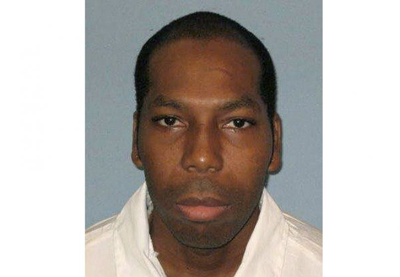 This undated file photo from the Alabama Department of Corrections shows inmate Domineque Ray. A federal appeals court has stayed the execution of Ray, a Muslim inmate in Alabama who says the state is violating his religious rights by not allowing an imam at his lethal injection. The 11th U.S. Circuit Court of Appeals granted the stay Feb. 6, 2019,  a day before the scheduled lethal injection of Ray. (Alabama Department of Corrections via AP)