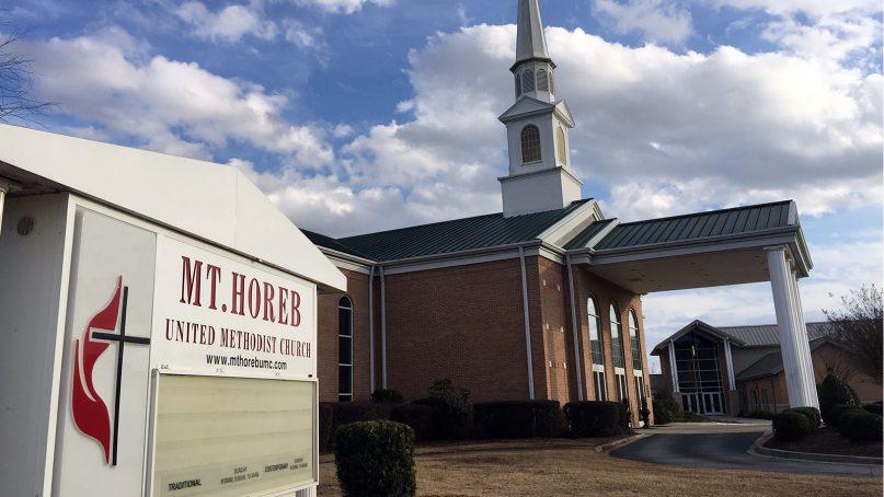 Mt. Horeb United Methodist Church in Lexington, S.C.  RNS photo by Yonat Shimron