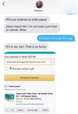 Alexa responds to minister's sermon, orders toilet paper