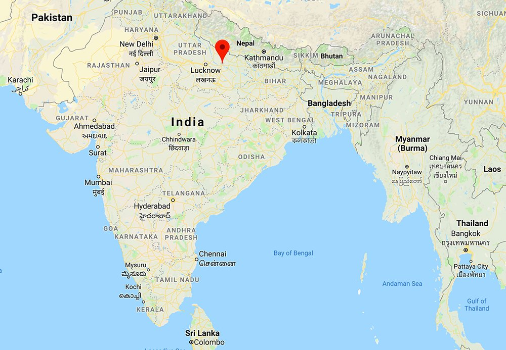 Ayodhya In India Map.Web Ayodhya Is Located In Northeastern India Map Courtesy Of