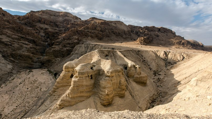 The Qumran caves, where the Dead Sea Scrolls were discovered, are in the eastern section of the West Bank. Photo by Lux Moundi/Creative Commons
