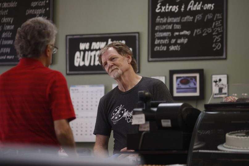 Baker Jack Phillips, owner of Masterpiece Cakeshop in Lakewood, Colo., manages his shop after  the U.S. Supreme Court ruled in his favor June 4, 2018, in a case over his refusal to make a wedding cake for a same-sex couple. (AP Photo/David Zalubowski)