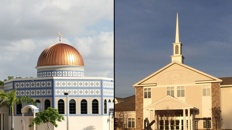 Left: The Assalam Center of Boca Raton, Fla. Right: Walnut Hill Community Church in Bethel, Conn. Photos courtesy of Wikimedia Commons