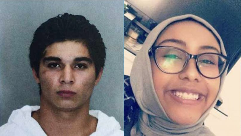 Darwin Martinez-Torres, left, has been sentenced to life in prison without parole for the rape and murder of Muslim teen Nabra Hassanen in 2017. Torres photo courtesy of the Fairfax County Police.  Hassanen photo via Twitter