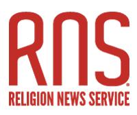 RNS: Religion News Service (logo)