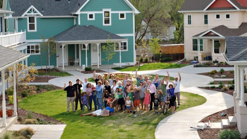 Casa Verde Commons, which opened in Colorado Springs, Colo., in 2002, is home to 67 adults, 15 young people, 12 dogs, eight cats and one lawn mower. Courtesy photo