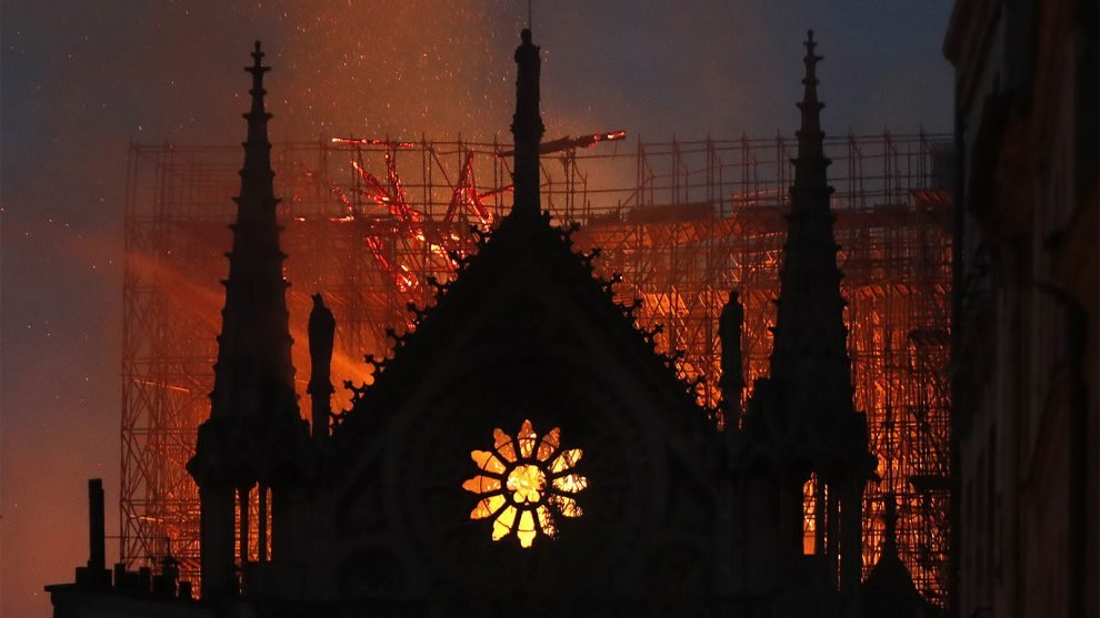 Notre Dame Cathedral in Paris ravaged by fire