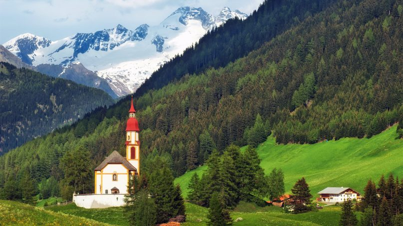 A church in the Austrian countryside. Photo courtesy of Creative Commons