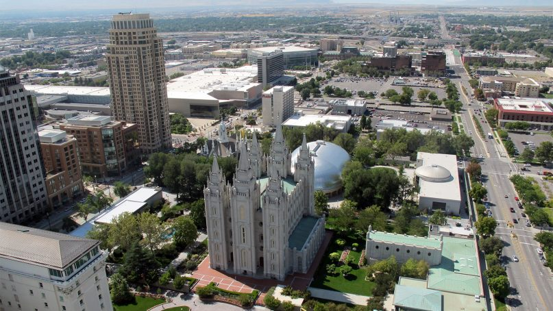 Temple Square in Salt Lake City. Photo courtesy of Creative Commons