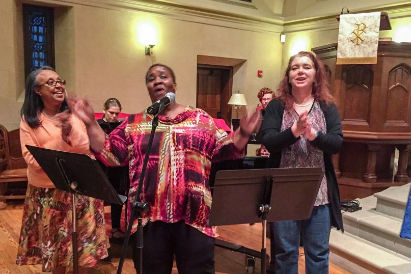 Three former inmates from N.C. Correctional Institute for Women sang songs they composed in prison at a
