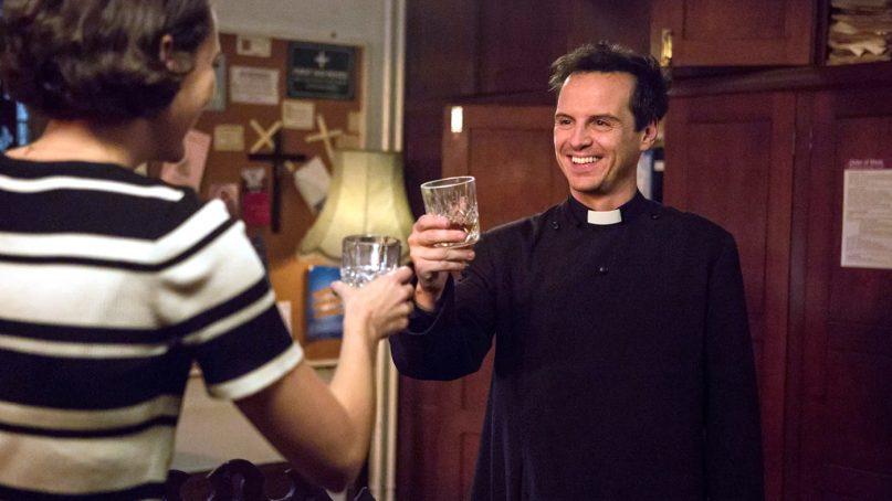 "Actors Phoebe Waller-Bridge, left, and Andrew Scott in ""Fleabag."" Photo courtesy of Amazon"