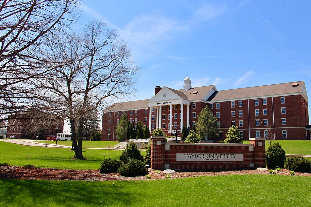 Taylor University campus on April 16, 2019, in Upland, Ind. RNS photo by Emily McFarlan Miller