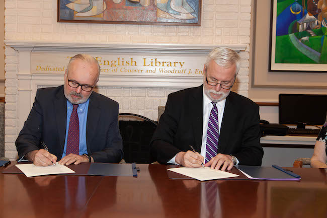 From left to right: Executive Director Thomas J. Hastings of the Overseas Ministries Study Center and Princeton Theological Seminary President M. Craig Barnes.