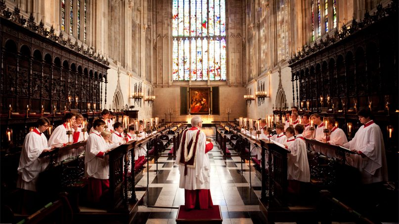King's College Choir at Cambridge University. Photo courtesy of Cambridge University