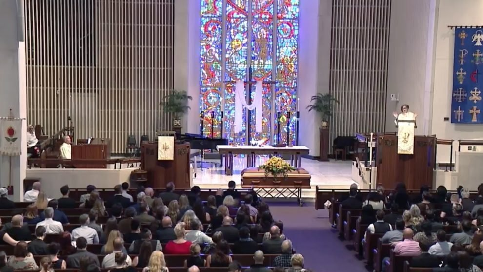 At her funeral, Rachel Held Evans is memorialized with quotes from