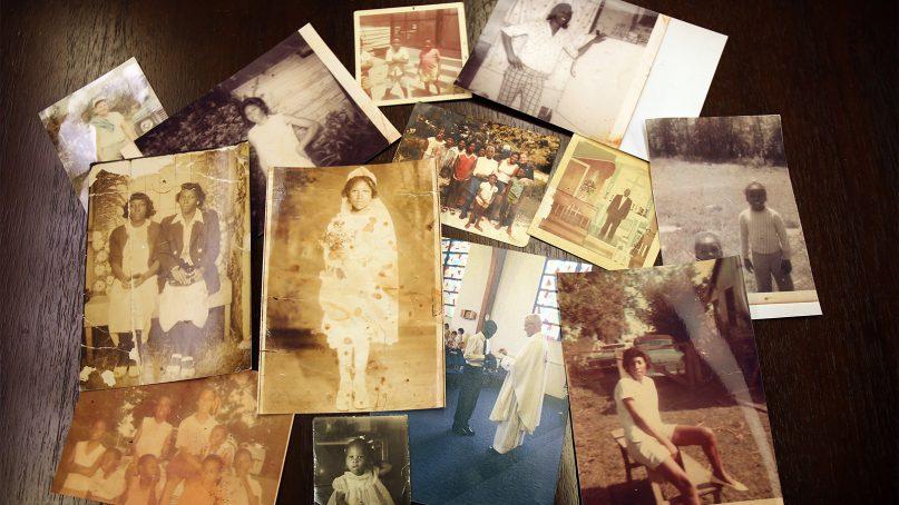Photos of GU272 descendent Donna Comeaux's family. Photo by Claire Vail