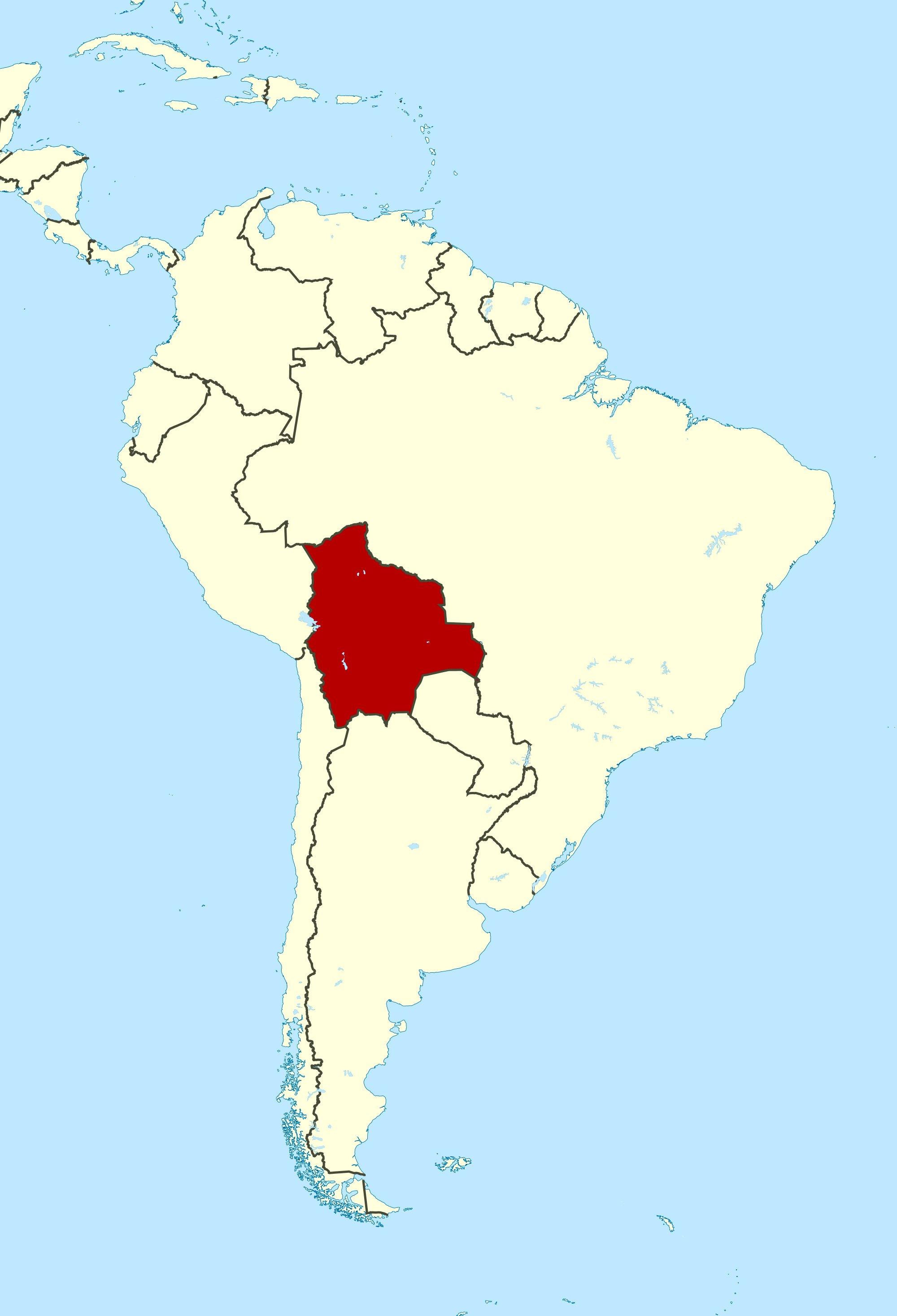 PRINT Bolivia is located in central South America. Map ... on haiti map, mexico map, italy map, australia map, india map, belize map, panama map, croatia map, africa map, uruguay map, morocco map, asia map, ecuador map, western hemisphere map, europe map, middle east map, zimbabwe map, spain map, costa rica map, argentina map,
